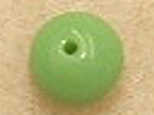 Apple Green Opaque 8mm Round Qty: 10 beads