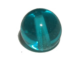 Teal Transparent 8mm Round Qty: 10 beads