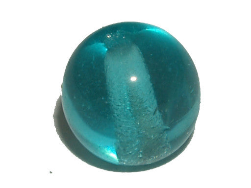 Teal Blue Transparent 6mm Round Qty: 50 beads