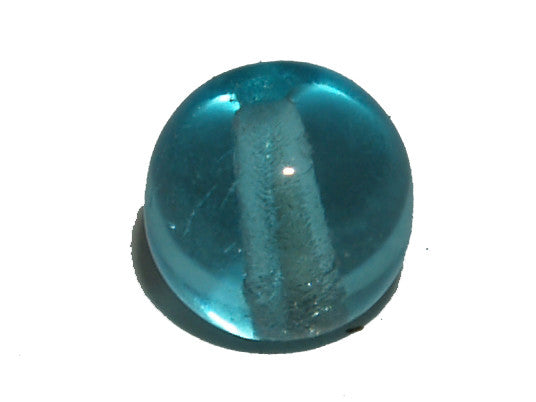 Aqua Transparent 6mm Round Qty: 50 beads