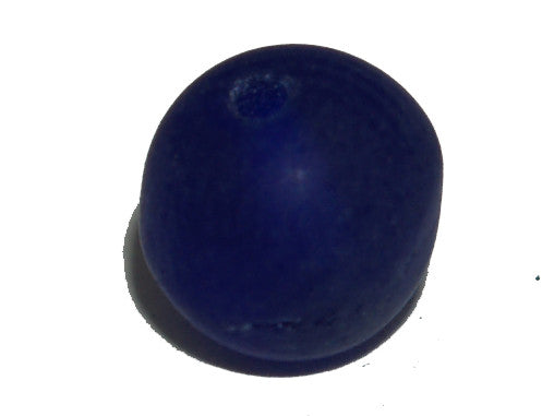 Navy Blue Frosted 5mm Round Qty: 50 beads