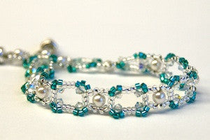 Highlights Bracelet Kit - Blue Zircon/Silver