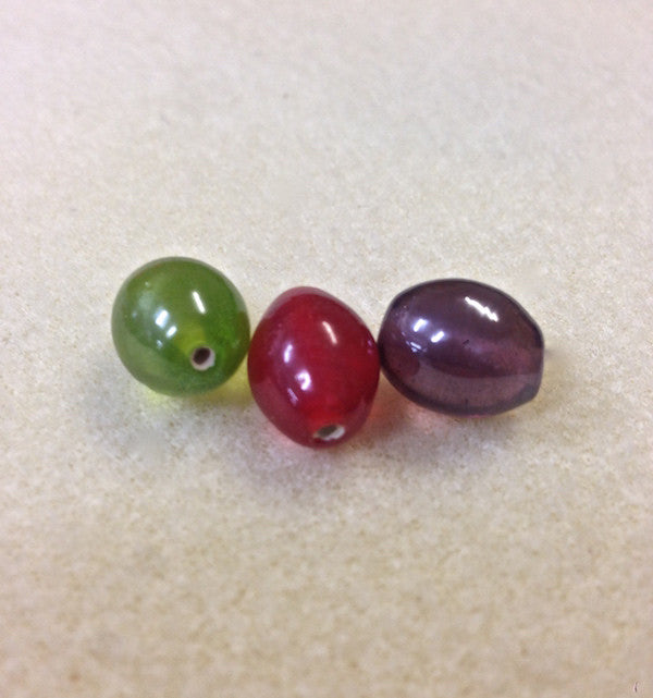 13x11mm Rice Shape Indian Glass Bead - 4 colours available