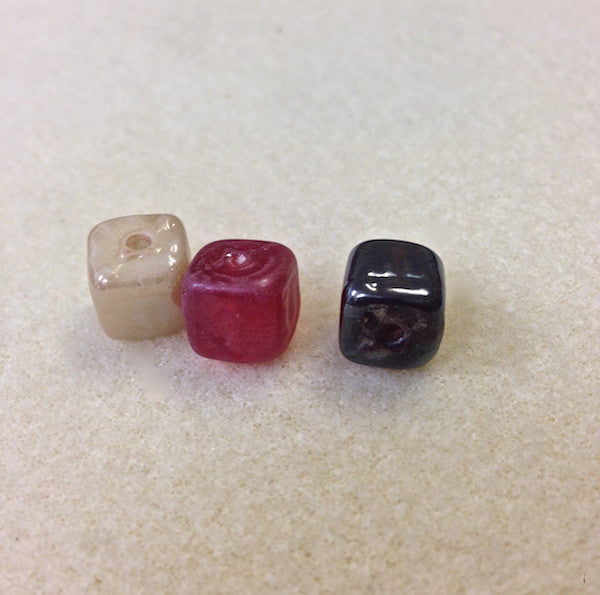Cube Indian Glass Bead - 5 colours available