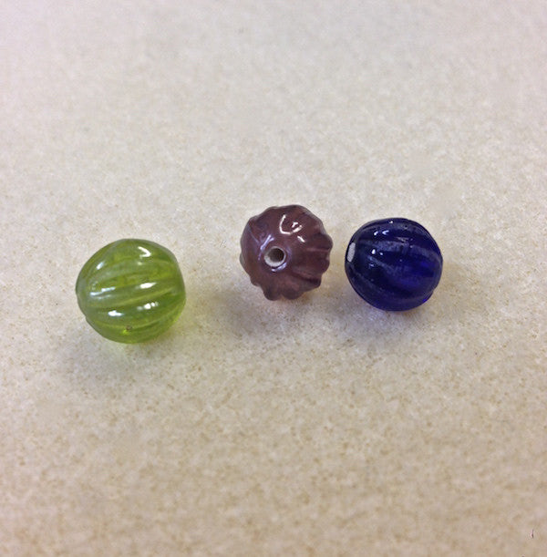 10x9mm Onion Indian Glass Beads - 5 colours available