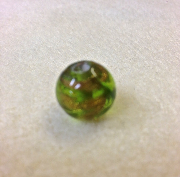 10mm Round Green w. Foil Qty: 10