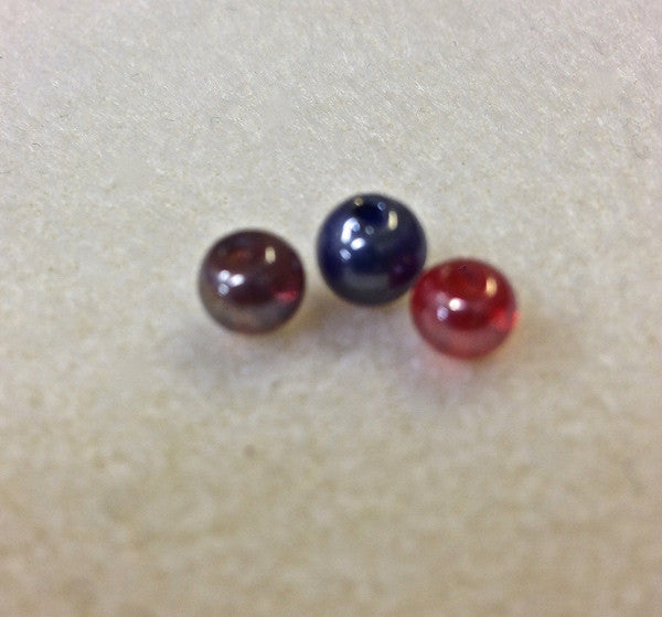 6mm Round Indian Glass Bead - 4 colours available