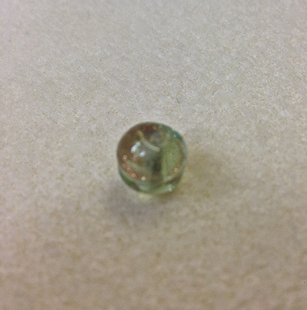9mm Round Clear, Light Green w. Foil Qty: 10