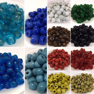 Pony Beads (Indian Glass) - 12 colours available