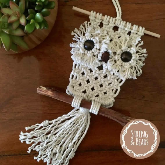 Hooter the Baby Owl Macrame Pattern