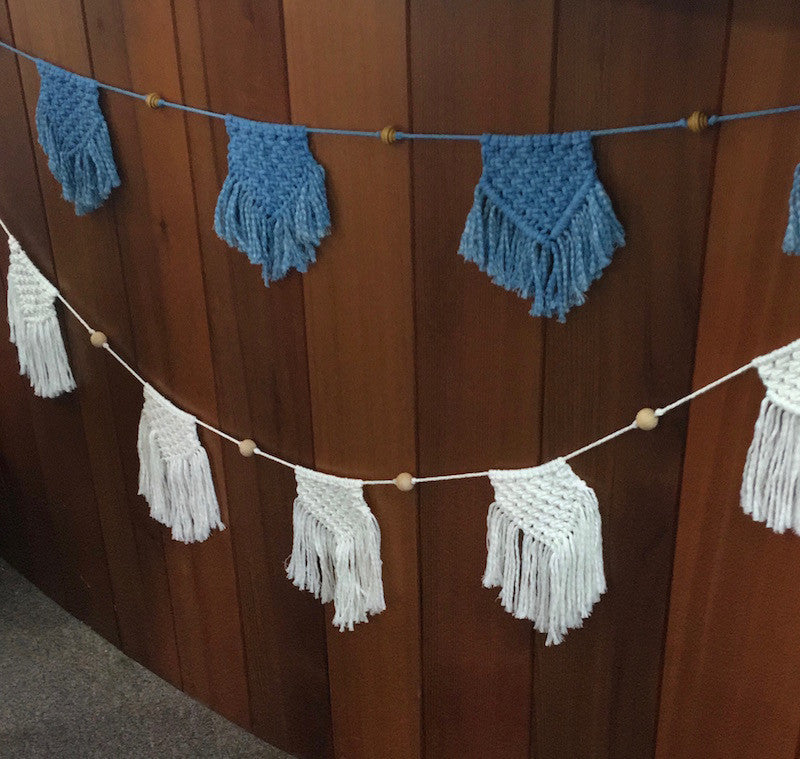 Macrame Bunting Garland Kit - choice of colours available