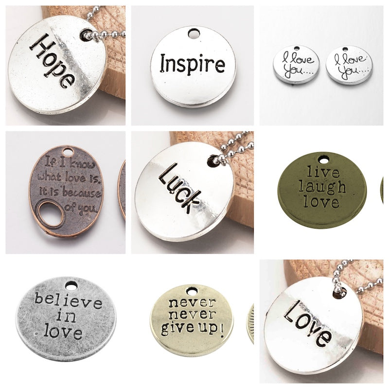 Inspirational Charms - Qty: 2 - 14 Styles