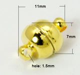 7x11mm Magnetic Clasp (Qty: 5) - 4 colours available