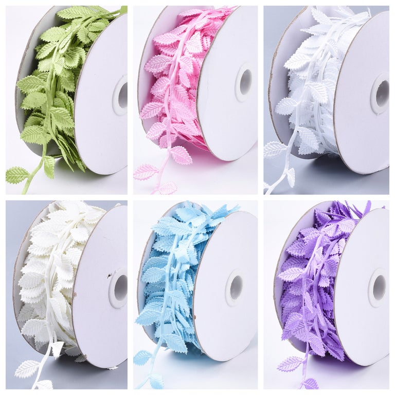 Leaf Trim Ribbon - 6 Colours Available