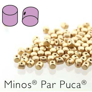 Minos ® par Puca Beads - Light Gold Matte - 5 grams