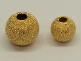 Gold 6mm Sparkle/Stardust Beads Qty: 20