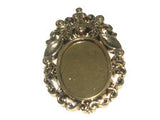 Oval Pendant Setting Antique Gold Qty: 1