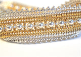 Twice as Gorgeous Sterling & 24kt Gold Plate Bracelet Pattern