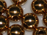 Gold 6.5mm Metal Bead Qty: 50