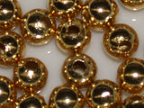 Gold 5mm Metal Bead Qty: 50