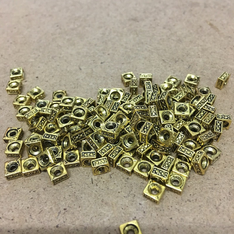 5mm Square Spacer Bead Qty: 100