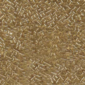 1.8mm Miyuki Cube Seed Beads Silverlined Gold (10 grams)
