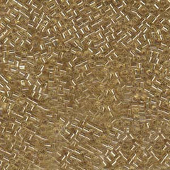1.8mm Miyuki Cube Seed Beads Silverlined Gold (10 grams) - Bead Shack