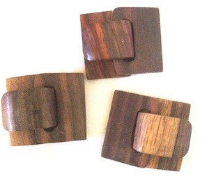 5-Row Wood Clasp Buckle
