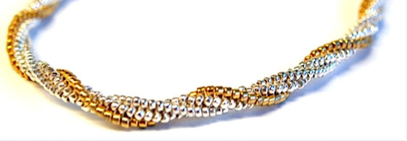 Sterling & 24kt Gold Twist Necklace Pattern