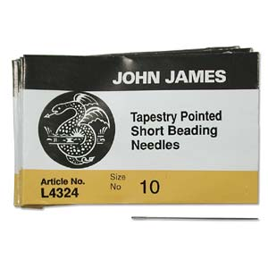 Tapestry Pointed Beading (Short) Needles - Size 10