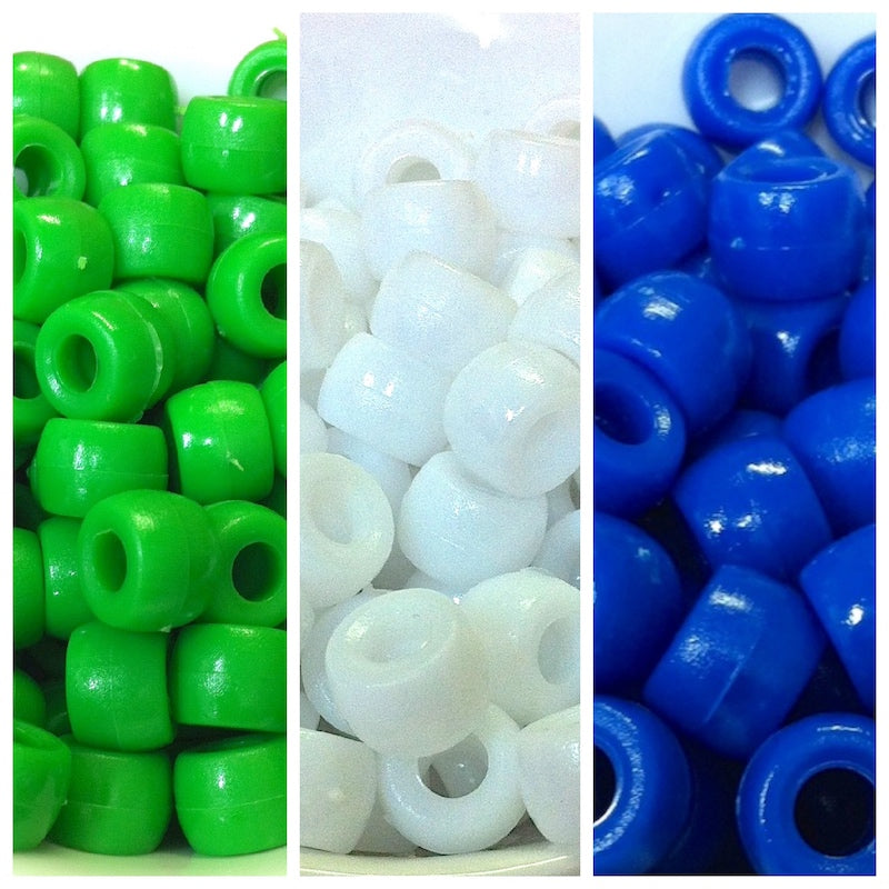 NAIDOC Week 9mm Pony Bead Supplies - Qty: 3,000 Torres Strait Colours