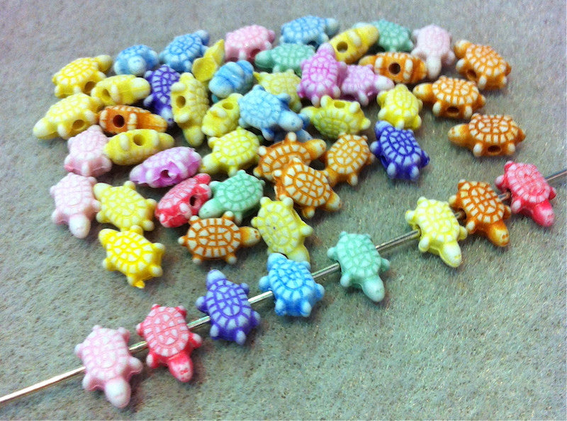 Tiny Turtle Beads Qty: 50