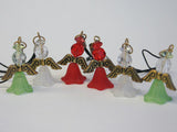 Bulk pack of Christmas Angels (Red/White & Silver) - makes 50