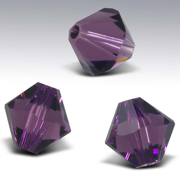 8mm Bicone Swarovski Crystal Beads (10 beads)