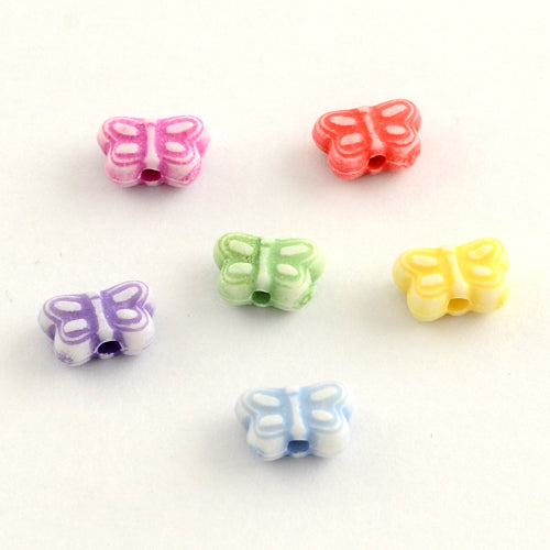Butterfly (rounded wings) Beads - Qty: 100