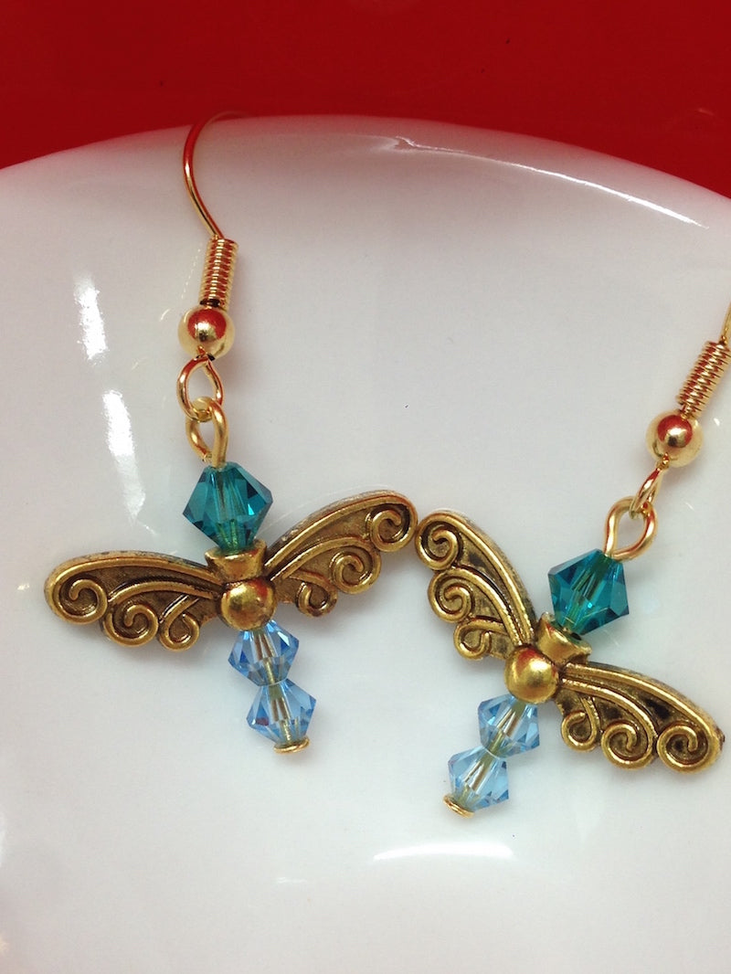 Butterfly Earrings Kit - Clip-On or Pierced