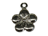 12mm Cherry Blossom Flower Charm w. Loop Qty: 50 - Bead Shack