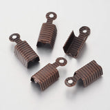 10mm Leather Fold-Over End Crimp (20)