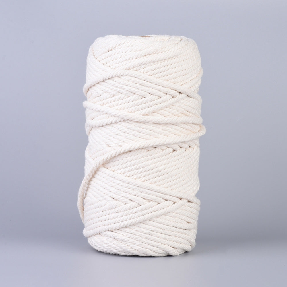 6mm Natural Cotton Macrame Rope - Natural - 100m Spool