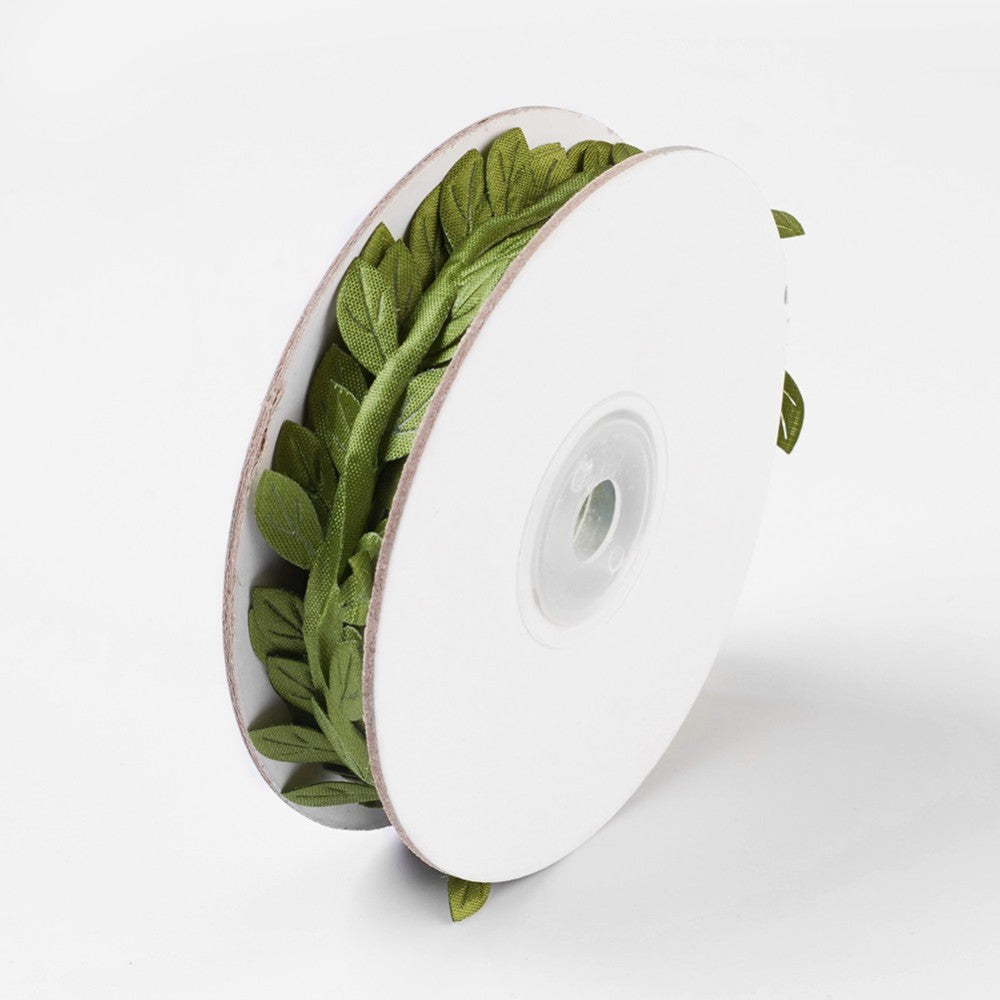 Leaf Trim Ribbon - 9.2m Roll - 3 Colours Available