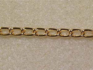 Gold Flat Chain Qty: 1 metre
