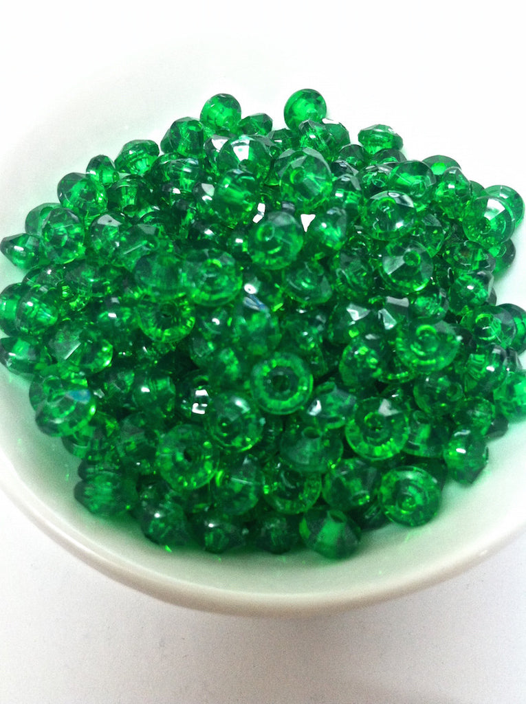 Rondelle Acrylic Beads 6x4mm - 10 colours available