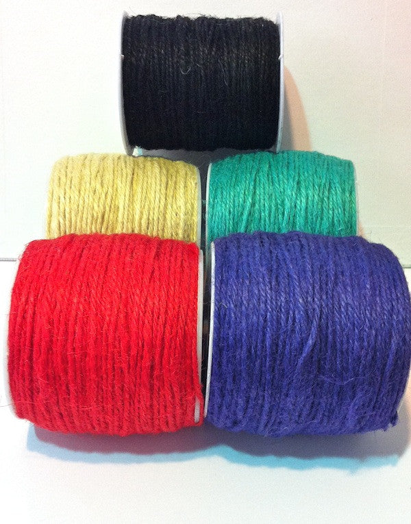 2mm Hemp (10 metres) - 6 colours available