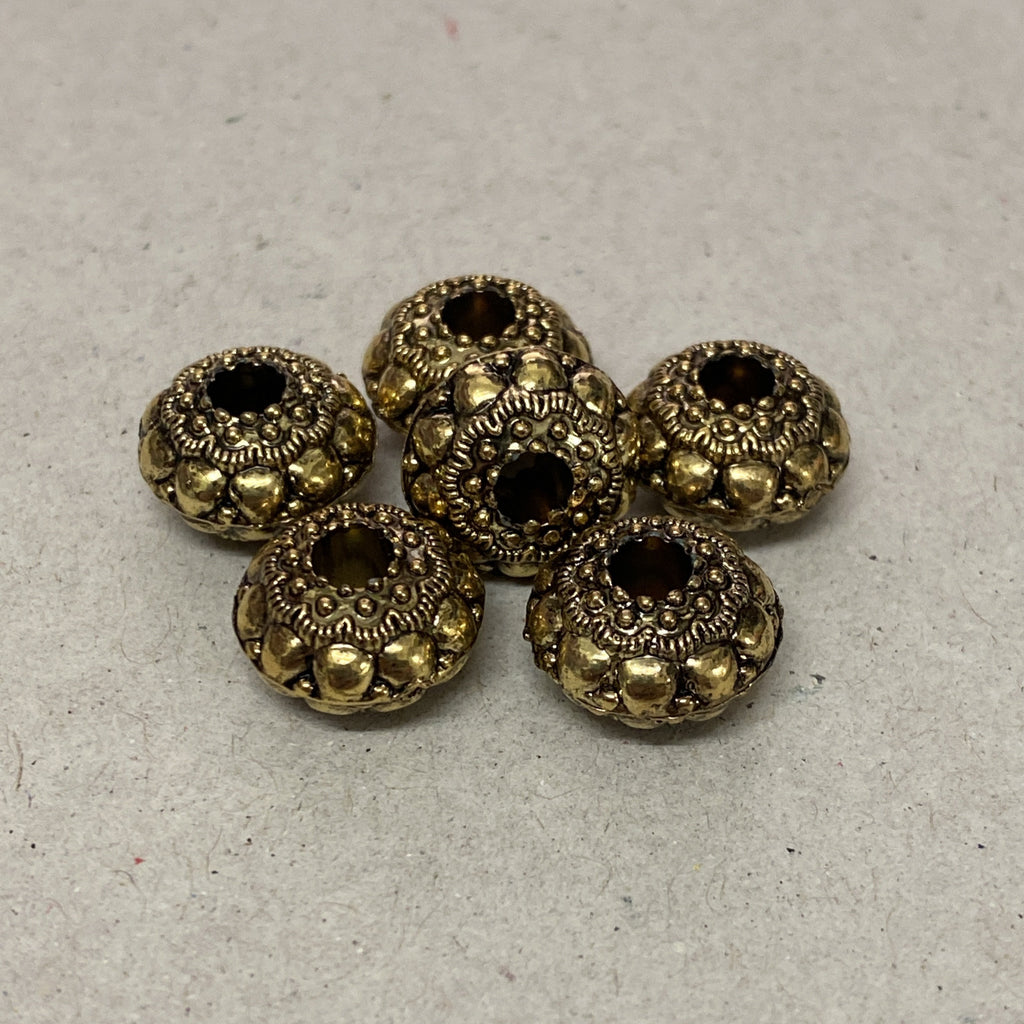 UFO 12x8mm Gold Tone - Qty: 1