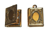 Small Gold Rectangular Locket Qty: 1