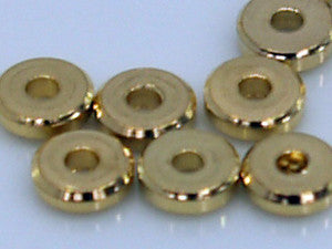 Gold Straight Edge Washer 4mm Qty: 50