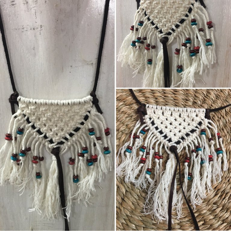 Boho Macrame Necklace Pattern