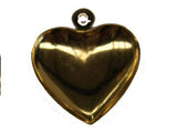 12mm Puffy Heart Charm w. Loop Qty: 50