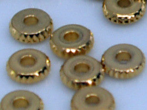 Gold Serrated Edge Washer 4mm Qty: 50