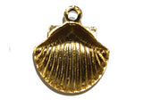 Gold Shell Charm w. Loop Qty: 20
